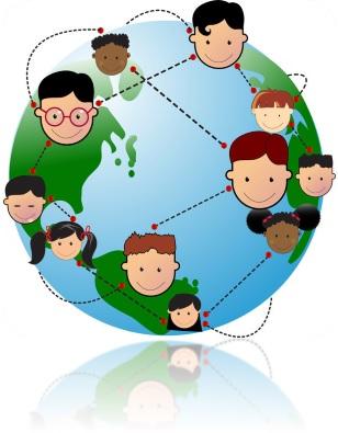 Gambarkan secara visual bahwa globalisasi membuat dunia tanpa batas