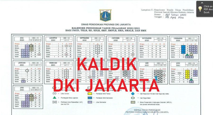 Kalender Pendidikan Tahun 2021 2022 DKI Jakarta